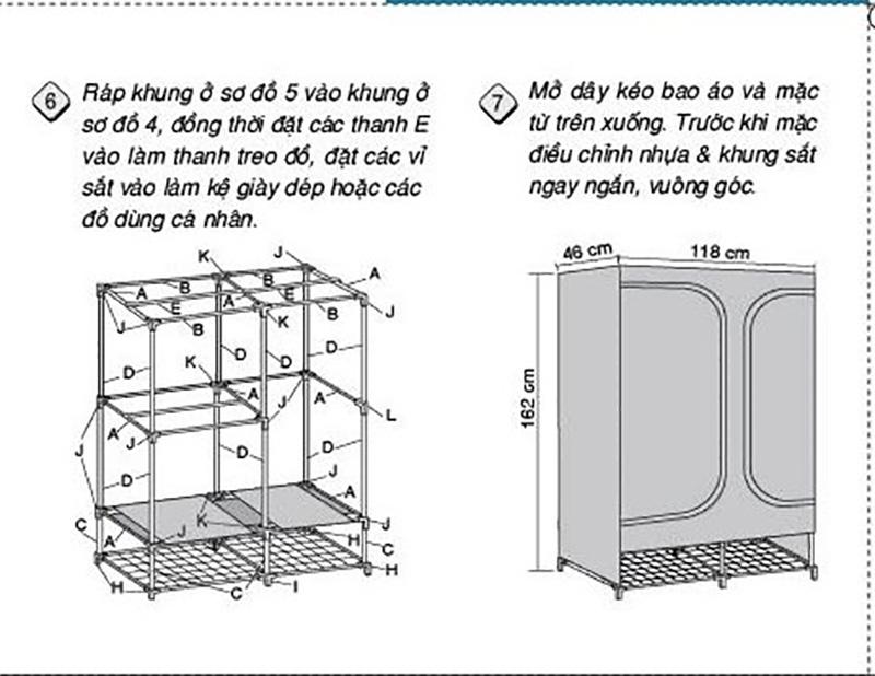 Hướng dẫn lắp ráp tủ vải TVAI08